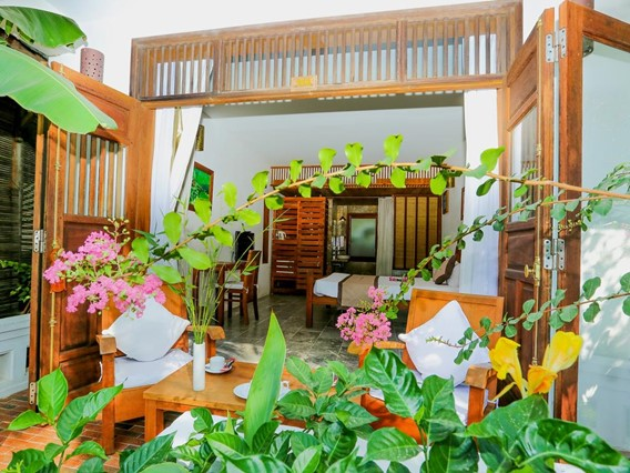 Phòng Coco Deluxe Double Garden View