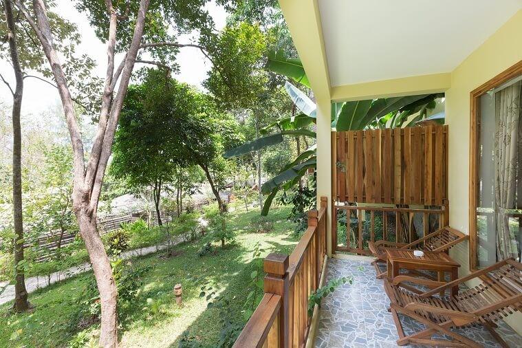 Phòng Deluxe Triple Garden View