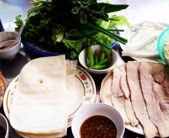 Quán Mậu bánh tráng thịt heo - Đà Nẵng