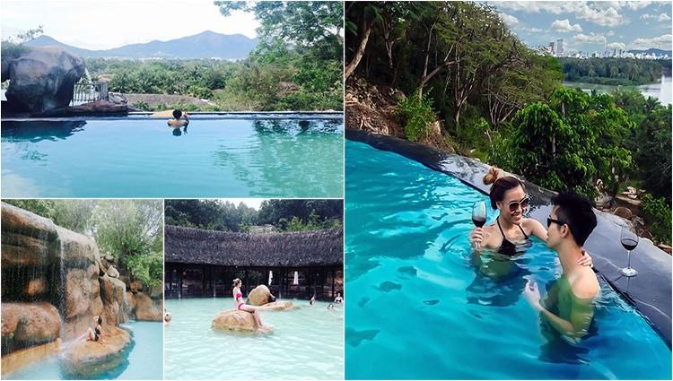 Cứ ngỡ như ở Bali với bể bơi và công viên nước khoáng đầu tiên ở VN