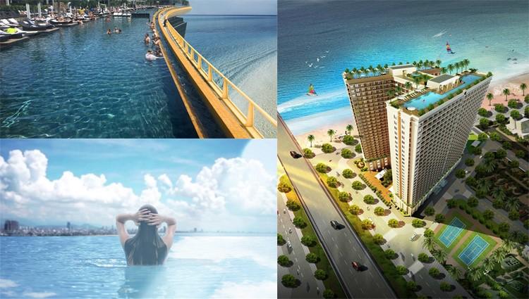 Đà Nẵng - Trải nghiệm bể bơi vô cực dát vàng 24K trên tầng thượng