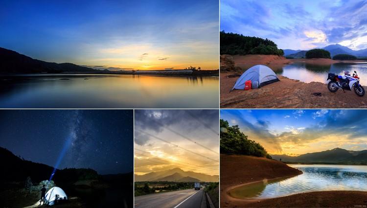 Đón dải Ngân Hà tuyệt diệu bên hồ Hòa Trung một ngày cắm trại