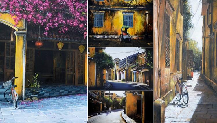 """Ngắm Hội An trong lành đẹp """"xuất thần"""" qua tranh của họa sĩ 9X Quảng Nam"""